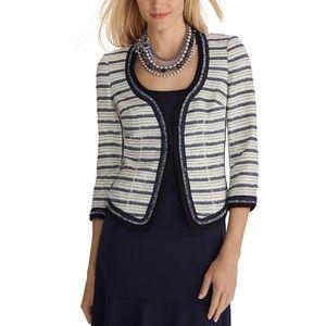 White House Black Market Stripe Tweed Jacket